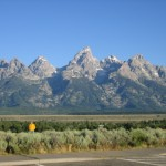 View of Grand Tetons in Jackson Hole